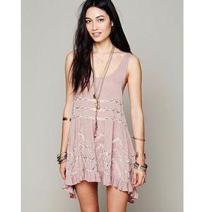 Free People Dresses - Intimately Free People Lace Boho Tunic Slip Dress